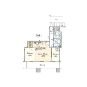 2LDK Mansion in Takashima - Yokohama-shi Nishi-ku Floorplan
