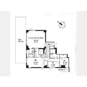 3LDK Mansion in Motoazabu - Minato-ku Floorplan