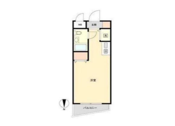 1R Apartment to Buy in Yokohama-shi Minami-ku Floorplan