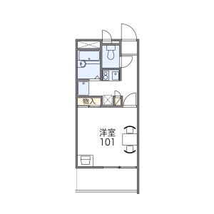 1K Mansion in Kemacho - Osaka-shi Miyakojima-ku Floorplan