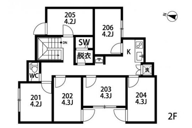 Private Guesthouse to Rent in Suginami-ku Floorplan