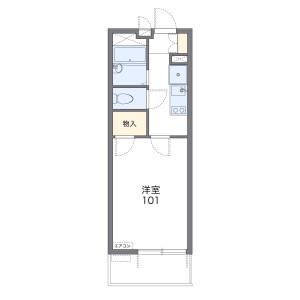 1K Mansion in Nakatsuguchi - Kitakyushu-shi Kokurakita-ku Floorplan