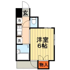 1K Mansion in Benten - Chiba-shi Chuo-ku Floorplan