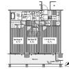 在港區內租賃2LDK 公寓大廈 的房產 房間格局