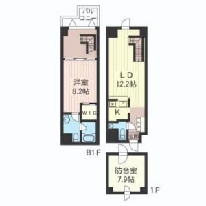 1LDK Mansion in Sumiyoshicho - Shinjuku-ku Floorplan