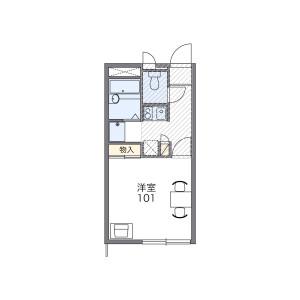 1K Apartment in Rinkan - Yamato-shi Floorplan