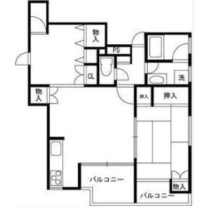 2LDK Mansion in Nishiwaseda(sonota) - Shinjuku-ku Floorplan