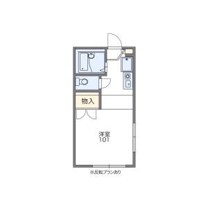 1K Apartment in Umebayashi - Fukuoka-shi Sawara-ku Floorplan