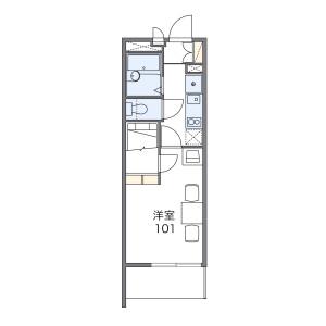1K Mansion in Omori - Nagoya-shi Moriyama-ku Floorplan