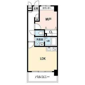 1LDK Mansion in Toyofuta - Kashiwa-shi Floorplan