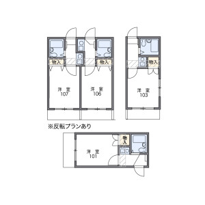 名古屋市守山區城南町-1K公寓 房間格局