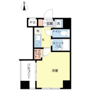 1K Mansion in Minamisuna - Koto-ku Floorplan