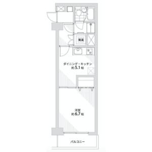 1DK {building type} in Kitaotsuka - Toshima-ku Floorplan