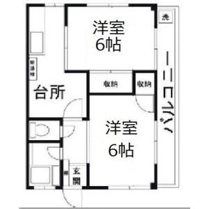 2DK Mansion in Hozukacho - Adachi-ku Floorplan