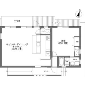 1LDK {building type} in Kori - Kunigami-gun Nakijin-son Floorplan
