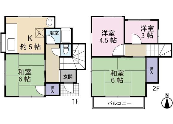 4K House to Rent in Komae-shi Floorplan