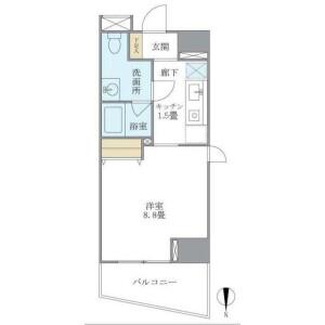 涩谷区広尾-1K公寓大厦 楼层布局