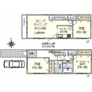 3LDK {building type} in Midorigaoka - Meguro-ku Floorplan