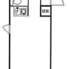1R Apartment to Rent in Yokohama-shi Naka-ku Floorplan