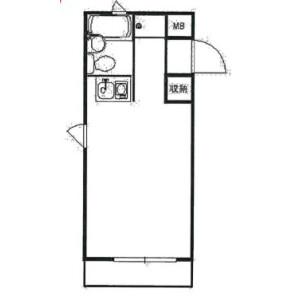 1R Mansion in Yamatocho - Yokohama-shi Naka-ku Floorplan