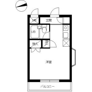 1R Mansion in Tarumachi - Yokohama-shi Kohoku-ku Floorplan