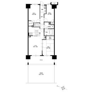 3LDK {building type} in Asahicho - Sagamihara-shi Minami-ku Floorplan