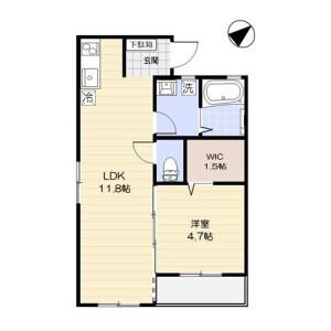 1LDK Mansion in Nishisugamo - Toshima-ku Floorplan