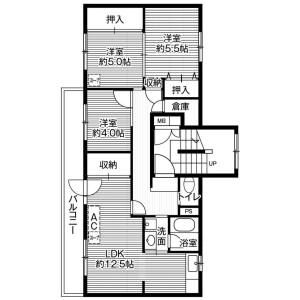 3DK Mansion in Shunko 7-jo - Asahikawa-shi Floorplan