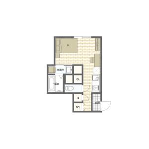 豊島區高田-1K公寓大廈 房間格局