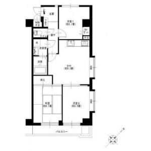 3DK {building type} in Higashimatanocho - Yokohama-shi Totsuka-ku Floorplan
