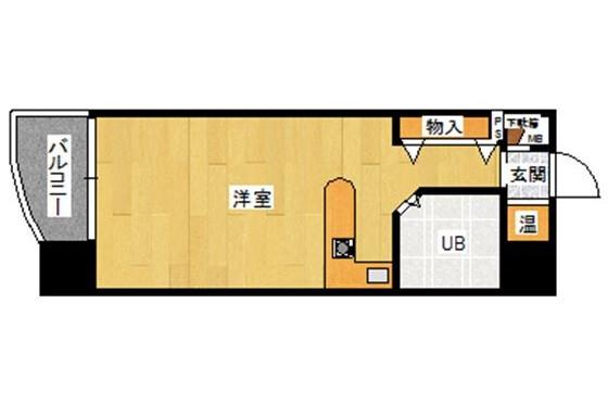 1R マンション 福岡市博多区 内装