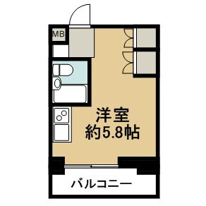 1R Mansion in Enokigaoka - Yokohama-shi Aoba-ku Floorplan