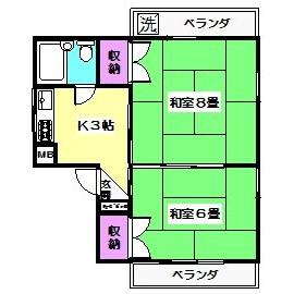 2K Mansion in Shimizu - Suginami-ku Floorplan