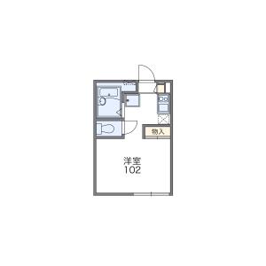 1K Apartment in Mita - Minato-ku Floorplan