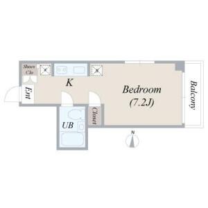 1R Mansion in Kamezawa - Sumida-ku Floorplan
