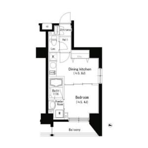 板桥区宮本町-1DK公寓大厦 楼层布局