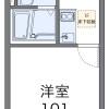 在稲澤市內租賃1K 公寓 的房產 房間格局