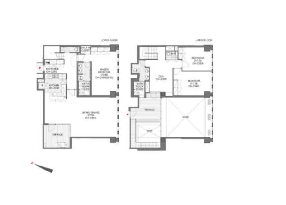 3LDK Apartment to Rent in Chiyoda-ku Floorplan