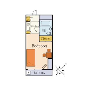 Flex Yokohama Ebina (More than 6 months)  - Serviced Apartment, Ebina-shi Floorplan