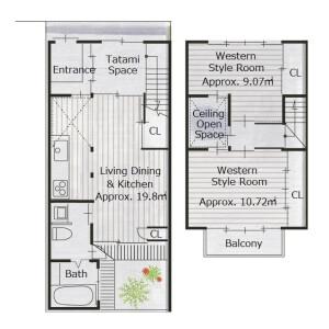 2LDK {building type} in Miideracho - Otsu-shi Floorplan