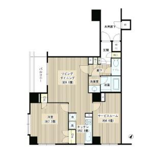 1SLDK Apartment in Shoto - Shibuya-ku Floorplan
