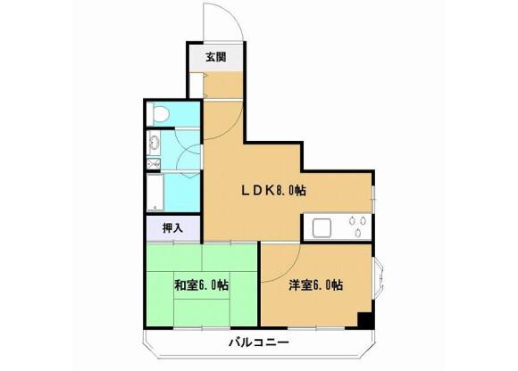2LDK Apartment to Rent in Hachioji-shi Floorplan