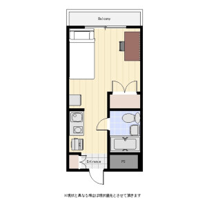 1R Mansion in Hiratsuka - Shinagawa-ku Floorplan