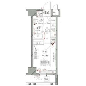 1K {building type} in Roppongi - Minato-ku Floorplan