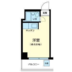 1R Mansion in Hongo - Bunkyo-ku Floorplan
