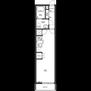 1R Apartment in Higashi - Shibuya-ku Floorplan