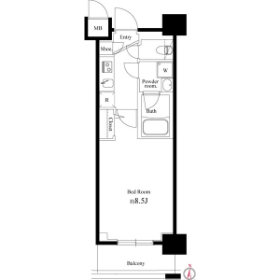1K Mansion in Tatekawa - Sumida-ku Floorplan