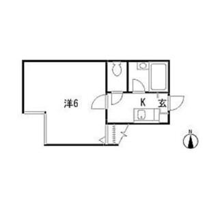 1K Apartment in Nishioi - Shinagawa-ku Floorplan