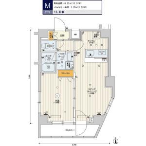 1LDK Mansion in Minamioi - Shinagawa-ku Floorplan