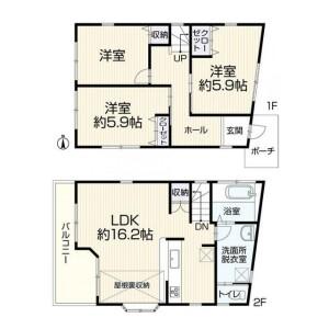 3LDK {building type} in Okamoto - Setagaya-ku Floorplan